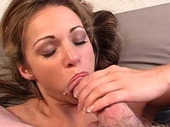 Agreeable Taylor Ann rams this hard knob down her face hole