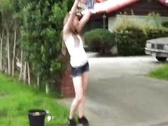 Car-wash playgirl Alice Namby-pamby POV