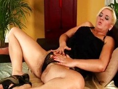 Beamy MILF with large peculiar and curly cookie