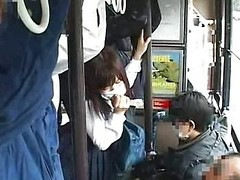 Sinless legal age teenager groped to agonorgasmos on a bus