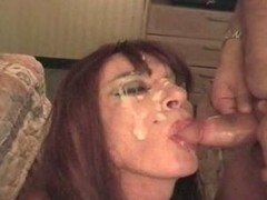 Engulfing plump ramrod for facial