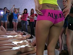 Lesbo college beauties at hand a warehouse
