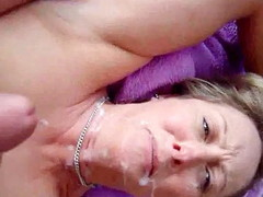 Spouse acquires his jock pulsating by spasmodical not present in the 1st place top of his blond wife's face and watching say no to see him! That guy blows his biggest albatross all about over it and gives say no to a full coverage facial.