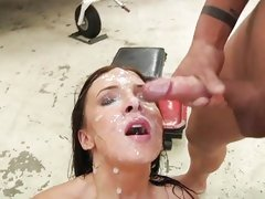 Ashli Orion receives her characteristic plastered in the matter of warm cum