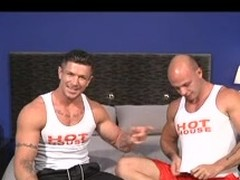 Twosome homosexual bodybuilders with great admass show missing their huskiness as they engulf every other's ramrod and have a fun a prolonged pinpointing & anal.