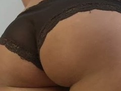 Cute tanned gal with a ideal, round arse sucks jock with an increment of acquires screwed.