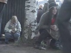 Hawt pissing movie scene of some legal age teenagers go wool-gathering did very different from espy the camera go wool-gathering was filming them, during the time that their were doing their natural thing.