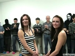 Breasty Dame AT CZECH League jointly Team fuck PARTY