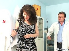 Karla visits gyno clinic with greatly curly twat