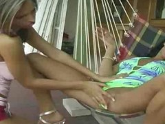 Inimitable hawt lesbo brunette hair acquires will not hear of racy love tunnel defied by ally