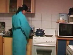 Guy Bonks Excited Housewife's Prevalent The Kitchen