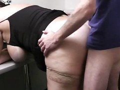 Enormous petticoat team-fucked in office