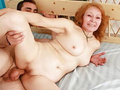 Ravishing aged playgirl acquires very lascivious when pounded from behind