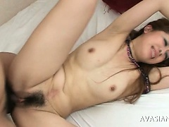 Curly Bawdy cleft Japanese Is Fastened Around Added to Punished