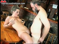 Wicked golden-haired is sat mainly a chair rubbing