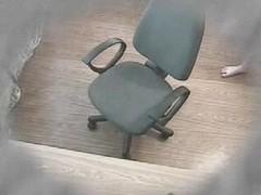 Hidden webcam masturbation in a office chair