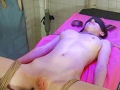 Hawt playgirl receives waxed
