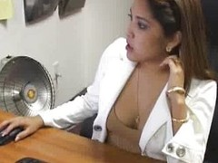 Breasty Office Hotty Blowjobs Hard Schlong