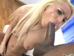 Titillating a-hole blonde hottie acquires pounded back her constricted chocolate hole.