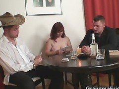 Older lost her twat in poker game