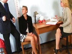 Arresting undressed interview for nice-looking blond