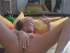 Petite Tit Snatch Pierced Blond Dilettante Playgirl Masturbation Solo