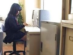 Cute Oriental schoolgirl enjoys porn