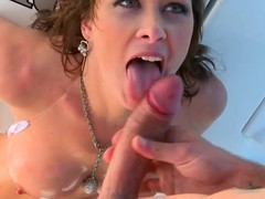 Breasty brunette hair milf Ashlee Raine receives all her holes drilled on a yacht
