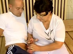 Chubby granny Sue acquires enticed added to screwed by say no to yoga tutor