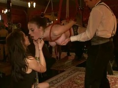 Perverted harlots acquire choked, fastened up and drilled hard