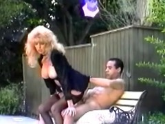 Older retro blond Tina Owen blows added to receives screwed in someone's skin acreage