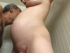 Preggo milf Becky Cumisha receives caressed with the addition of screwed from behind