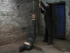 Wrapped Chloe Camilla receives suspended and tortured