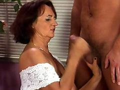 Old granny longs for a knob