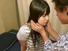 Japanese wench blows jock