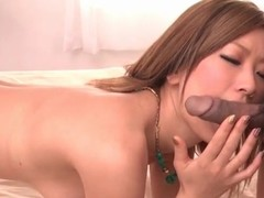 Racy Japanese snatch fingered lustily