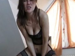 Milf with loose cum-hole inserts telling toys