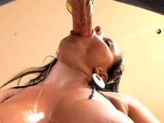 Stud licks with the addition be worthy for fucks enchanting cum-hole be worthy for his as a result sexual girlfriend