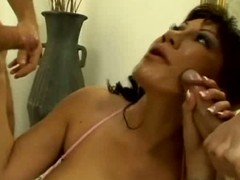 Ava devine receives group-fucked from the one and the other ends