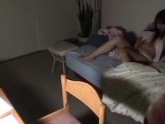 Japanese brunette hair receives filmed masturbating