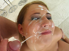 The very pretty Mel takes four dicks give her face hole. After along to oral making love along to guys plaster her face full of their sexy cream.