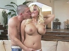 Nurse Shyla Stylez has humongous meatballs increased by loves rubbing 'em all over increased by down a thick dong.  This Sweetheart gives her patient Mick some complying tit fucking in preference with reference to to seductive him all over the a-hole in preference with reference to to finishing-off things all over with a juicy impure facial.