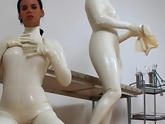 Two sexy amateurs angel getting kinky in white latex