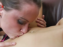 One sexy body of men prepare for some extreme lesbo fun